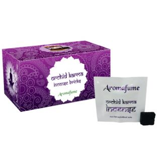 Aromafume Box of 18 Individually Wrapped Incense Bricks... ORCHID KARMA